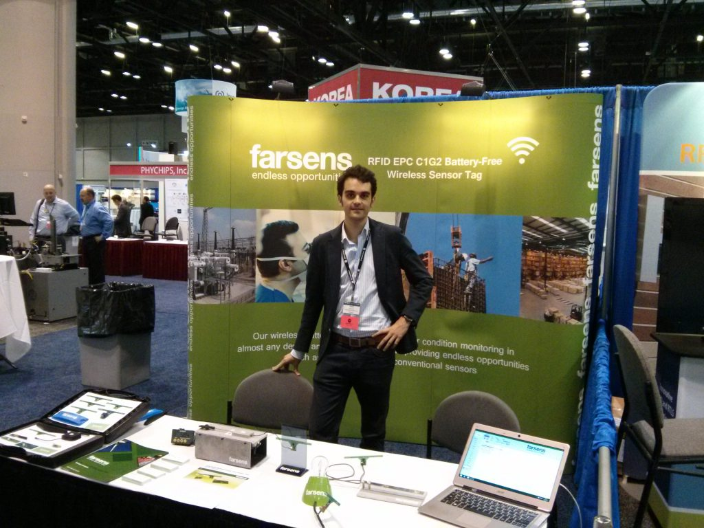 Farsens booth at RFID Journal LIVE 2014