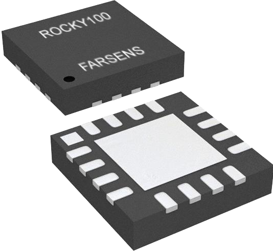 Rocky100 RFID tag ICs packaged in QFN 4x4mm