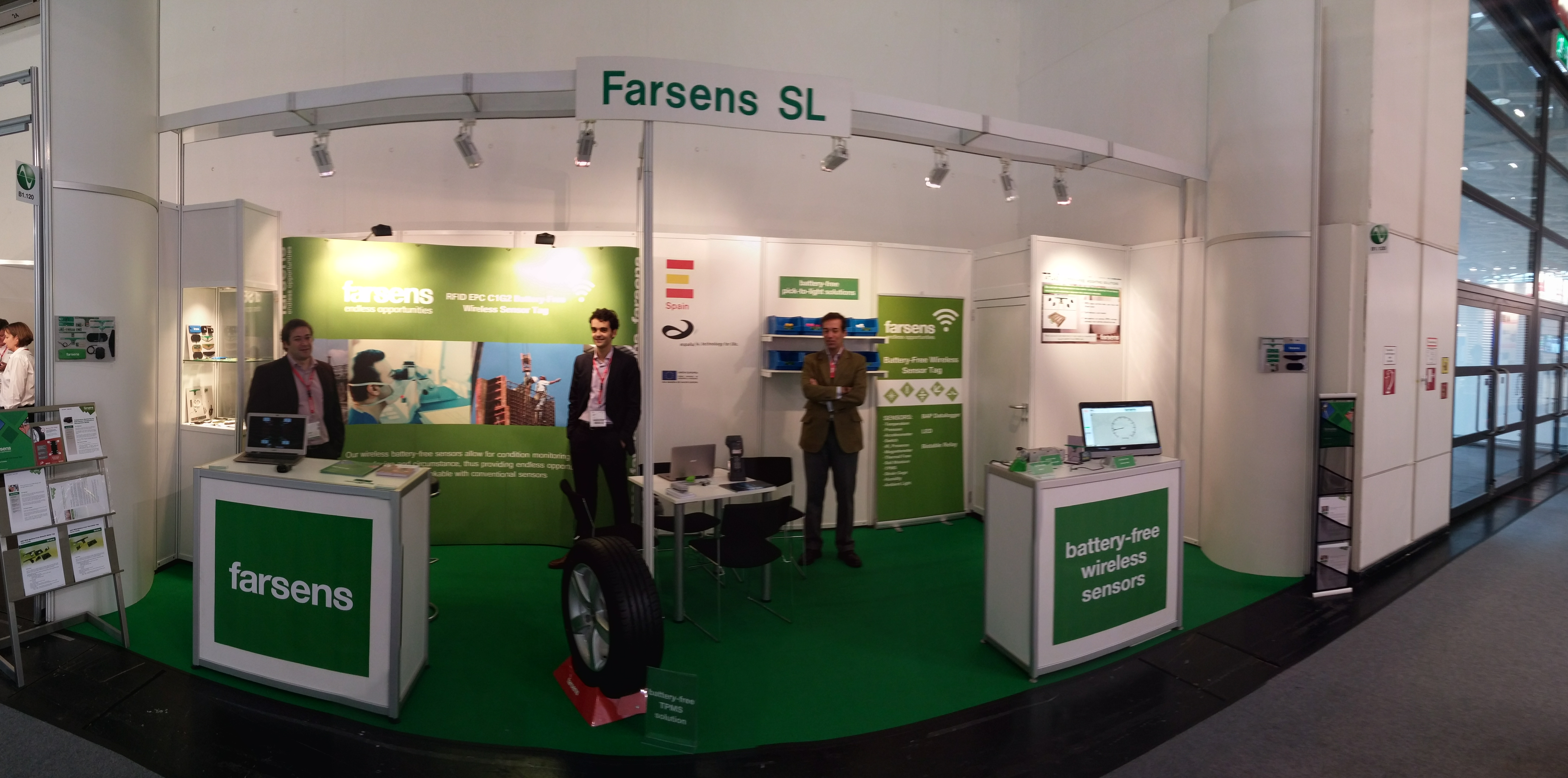 Electronica 2014 Farsens booth