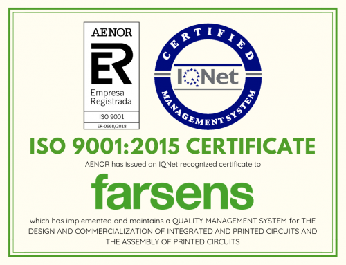 Farsens obtains the ISO 9001:2015 certification